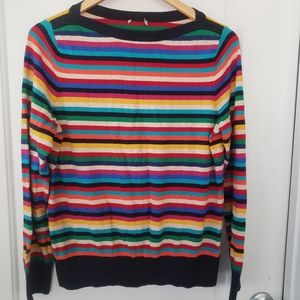 Talbots multi-color striped sweater sz L